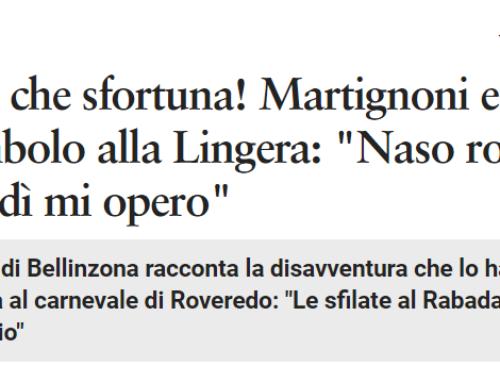 """Brenno, che sfortuna! Martignoni e il capitombolo alla Lingera: """"Naso rotto e mercoledì mi opero"""""""