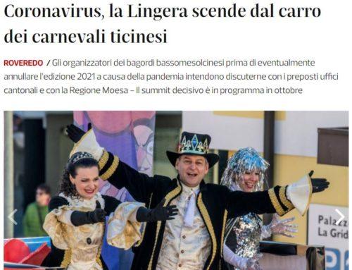 Coronavirus, la Lingera scende dal carro dei carnevali ticinesi