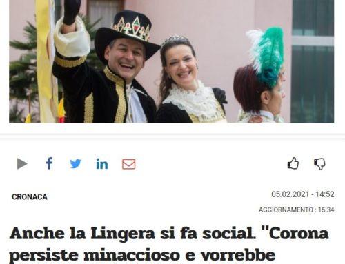 """Anche la Lingera si fa social. """"Corona persiste minaccioso e vorrebbe impossessarsi della corona del sire"""""""