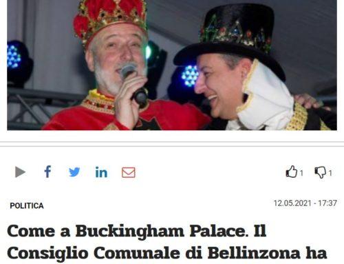 Come a Buckingham Palace. Il Consiglio Comunale di Bellinzona ha due re
